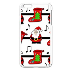Christmas Song Apple Iphone 6 Plus/6s Plus Enamel White Case by Valentinaart