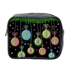 Christmas Balls   Pastel Mini Toiletries Bag 2 Side by Valentinaart
