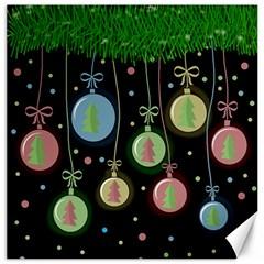 Christmas Balls   Pastel Canvas 20  X 20   by Valentinaart