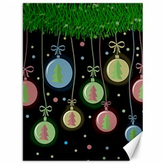 Christmas balls - pastel Canvas 36  x 48   by Valentinaart