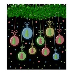 Christmas Balls   Pastel Shower Curtain 66  X 72  (large)  by Valentinaart