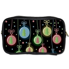 Christmas Balls   Pastel Toiletries Bags by Valentinaart