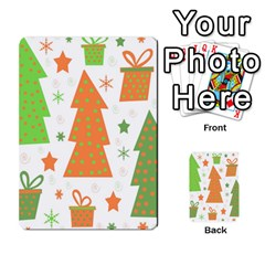 Christmas Design   Green And Orange Multi Purpose Cards (rectangle)  by Valentinaart
