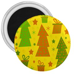 Christmas Design   Yellow 3  Magnets by Valentinaart