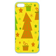 Christmas design - yellow Apple Seamless iPhone 5 Case (Color)