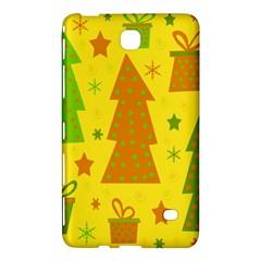 Christmas design - yellow Samsung Galaxy Tab 4 (7 ) Hardshell Case  by Valentinaart