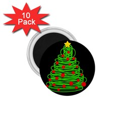 Christmas Tree 1 75  Magnets (10 Pack)  by Valentinaart