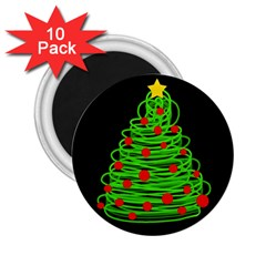 Christmas Tree 2 25  Magnets (10 Pack)  by Valentinaart