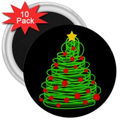 Christmas Tree 3  Magnets (10 Pack)  by Valentinaart