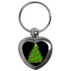 Christmas Tree Key Chains (heart)  by Valentinaart
