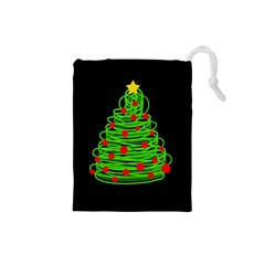 Christmas Tree Drawstring Pouches (small)  by Valentinaart