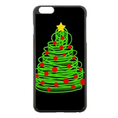Christmas Tree Apple Iphone 6 Plus/6s Plus Black Enamel Case by Valentinaart
