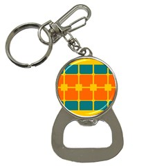 Squares And Rectangles                                                                                                bottle Opener Key Chain by LalyLauraFLM