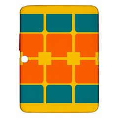 Squares And Rectangles                                                                                               samsung Galaxy Tab 3 (10 1 ) P5200 Hardshell Case by LalyLauraFLM