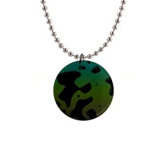 Black Spots On A Gradient Background                                                                                                  			1  Button Necklace by LalyLauraFLM