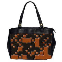 Brown Pieces                                                                                                  Oversize Office Handbag (2 Sides) by LalyLauraFLM