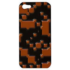 Brown Pieces                                                                                                 apple Iphone 5 Hardshell Case by LalyLauraFLM