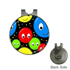 Smiley faces pattern Hat Clips with Golf Markers by Valentinaart