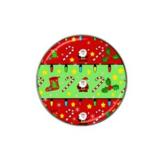 Christmas Pattern   Green And Red Hat Clip Ball Marker (10 Pack) by Valentinaart