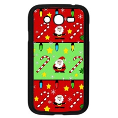 Christmas Pattern   Green And Red Samsung Galaxy Grand Duos I9082 Case (black) by Valentinaart
