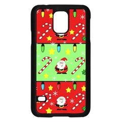 Christmas Pattern   Green And Red Samsung Galaxy S5 Case (black) by Valentinaart