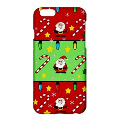 Christmas Pattern   Green And Red Apple Iphone 6 Plus/6s Plus Hardshell Case by Valentinaart