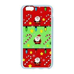 Christmas pattern - green and red Apple Seamless iPhone 6/6S Case (Color) by Valentinaart