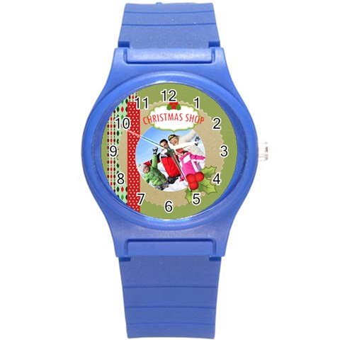 Xmas Merry Christmas By 2016   Round Plastic Sport Watch (s)   Hobb1i7c7f85   Www Artscow Com Front