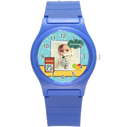 Xmas Merry Christmas By 2016   Round Plastic Sport Watch (s)   1cdvvdmrh172   Www Artscow Com Front