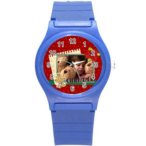 Xmas Merry Christmas By 2016   Round Plastic Sport Watch (s)   6scke0qp59we   Www Artscow Com Front