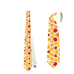 Orange Ombre Mosaic Pattern Neckties (two Side)  by TanyaDraws