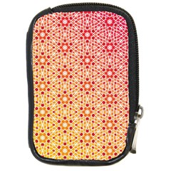 Orange Ombre Mosaic Pattern Compact Camera Cases by TanyaDraws