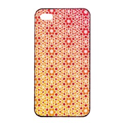Orange Ombre Mosaic Pattern Apple Iphone 4/4s Seamless Case (black) by TanyaDraws