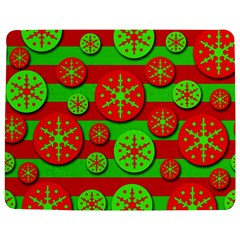 Snowflake red and green pattern Jigsaw Puzzle Photo Stand (Rectangular) by Valentinaart