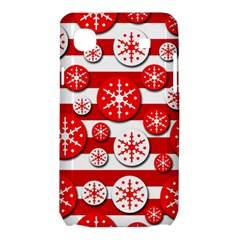 Snowflake red and white pattern Samsung Galaxy SL i9003 Hardshell Case
