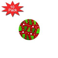 Twisted Christmas Trees 1  Mini Magnet (10 Pack)  by Valentinaart