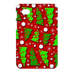 Twisted Christmas trees Samsung Galaxy Tab 7  P1000 Hardshell Case  by Valentinaart