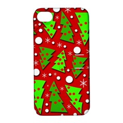 Twisted Christmas trees Apple iPhone 4/4S Hardshell Case with Stand by Valentinaart