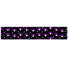 Purple Dots Pattern Flano Scarf (large) by Valentinaart