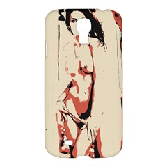 39 Sexy Conte Sketch Girl In Room Naked Boobs Nipples Pussy Samsung Galaxy S4 I9500/I9505 Hardshell Case by PeterReiss