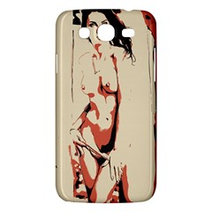 39 Sexy Conte Sketch Girl In Room Naked Boobs Nipples Pussy Samsung Galaxy Mega 5 8 I9152 Hardshell Case  by PeterReiss
