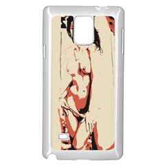39 Sexy Conte Sketch Girl In Room Naked Boobs Nipples Pussy Samsung Galaxy Note 4 Case (white) by PeterReiss