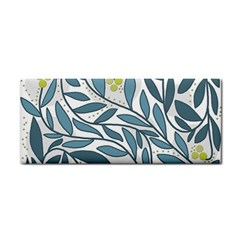 Blue Floral Design Hand Towel by Valentinaart
