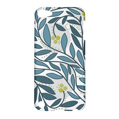 Blue Floral Design Apple Ipod Touch 5 Hardshell Case by Valentinaart
