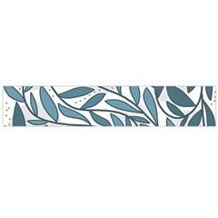 Blue floral design Flano Scarf (Large)