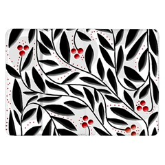 Red, Black And White Elegant Pattern Samsung Galaxy Tab 8 9  P7300 Flip Case by Valentinaart