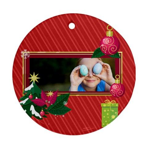 Xmas By 2016   Ornament (round)   6yfha6ejvfhs   Www Artscow Com Front
