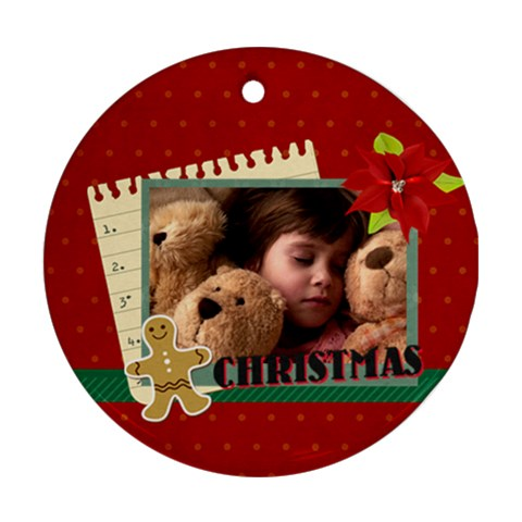 Xmas By 2016   Ornament (round)   A7pyp0qa3pll   Www Artscow Com Front