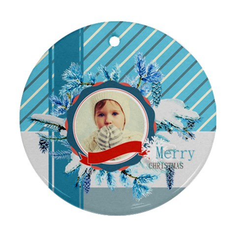 Xmas By 2016   Ornament (round)   Otrz34xrq07a   Www Artscow Com Front