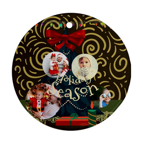 Xmas By 2016   Ornament (round)   689gj5q4ppah   Www Artscow Com Front